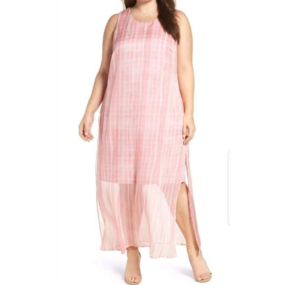 e16a864cbdc92 Vince Camuto Dresses | Plus Size 2x Pink Chiffon Dress | Poshmark